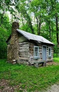 Old Log Cabin stock photo. Image of country, cottage - 19557310 Small Log Cabin, Tiny House Cabin, Little Cabin, Log Cabin Homes, Cozy Cabin, Old Cabins, Tiny Cabins, Cabins And Cottages, Stone Cabin