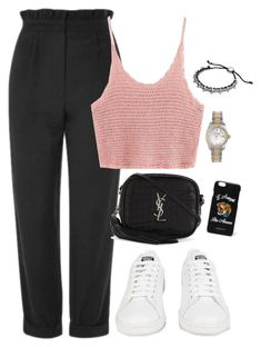 """""""Untitled #1506"""" by morggz ❤ liked on Polyvore featuring Topshop, Rolex, Links of London, Yves Saint Laurent, Gucci and adidas"""