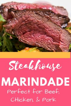 Steakhouse Marinade - Perfect Grilling Marinade. Tastes great on beef, pork, or chicken. #marinade #grillrecipe #summercooking