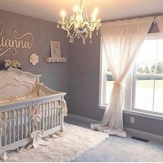 50 Cute Baby Nursery Ideas for Your Little Princes – Baby girl nursery room - Baby Room Baby Bedroom, Baby Room Decor, Nursery Room, Baby Girl Room Themes, Baby Girl Bedroom Ideas, Baby Room Ideas For Girls, Baby Gurl Nursery, Elegant Baby Nursery, Newborn Nursery