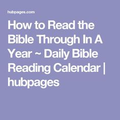 Pseudo Chronological Bible Reading Plan | After searching ...