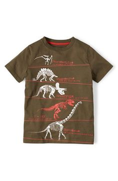 Love this one reminds me of a kid a little more interested in the science behind dinosaurs. A little Archaeologist!! Mini Boden 'Historical Print' Cotton T-Shirt | Nordstrom