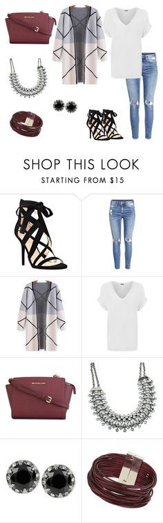 """""""Casual Chic"""" by sophiamariana on Polyvore featuring Nine West, H&M, WearAll, MICHAEL Michael Kors, Betsey Johnson, Topshop, women's clothing, women's fashion, women and female"""