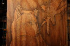 "Endangered Species, Graphite on Wood, 24"" x 24"""