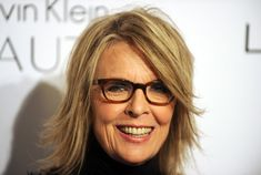 Aha, Diane Keaton..so stylish, great haircut and her trendy eye glasses with a shout out  to @Sarah Lobello