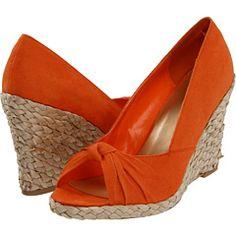 Orange and raffia Diba wedges