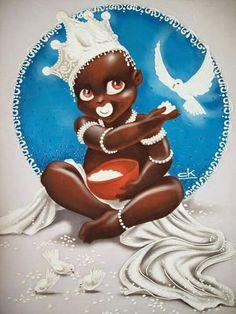 Resultado de imagem para eres de oxala Shango Orisha, Fantasy Mermaids, Tattoo Project, Black Artwork, Afro Art, Black Women Art, Egyptian Art, Sacred Art, Religious Art