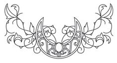 59 Ideas for embroidery inspiration hand stitching urban threads Embroidery Hearts, Embroidery Patterns, Hand Embroidery, Moon Design, Curve Design, Trendy Tattoos, Unique Tattoos, Elven Tattoo, Coloring Books