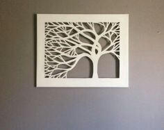 Items similar to 11 x 14 Tree Silhouette Cut Canvas - Set of 3 on Etsy Diy Wall Art, Metal Wall Art, Diy Art, Wood Art, Kirigami, Wood Patterns, Canvas Patterns, Cut Out Canvas, Arte Linear