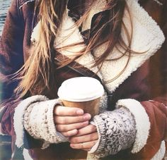 warm coffee on a cold morning