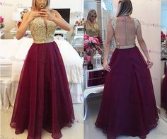 Charming Prom Dress,DeepV-neck Prom Dress,Tulle Prom Dress,long Prom Dress ,evening Dress,long Party on Luulla
