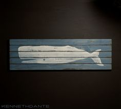 Whale Wall Art distressed wood whale art wall hanging folk style 46 inch blue