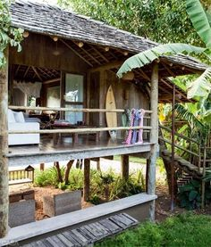 a simple life afloat: beach shack treehouse