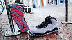 Air Jordan X Retro, Cool Grey - Infrared - Black #airjordan #coolgrey #infrared #slft #soulfoot