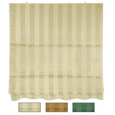 Give your home a touch of style with this beautiful striped in gold or green for old world contemporary Roman shades. Displaying handcrafted techniques passed over centuries, this Roman shade is manufactured with breathable cotton and is available in striking hues of green, gold, and cream.