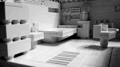 Bedroom design using LEGO Architecture Studio.