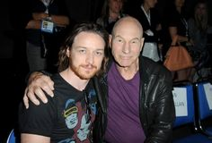 Patrick Stewart and James McAvoy at event of X-Men: Days of Future Past (2014)
