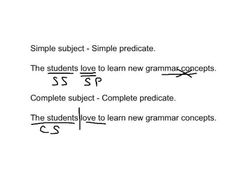 Simple & Complete Subjects and Predicate