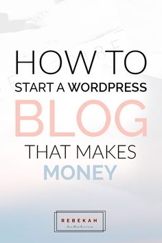 Ready to start a WordPress blog that can make you money? See how you can get your domain + hosting set up in a few easy steps, as well as where you can purchase beautiful, feminine themes for your new blog. Click through to learn how you can start a profitable blog today!