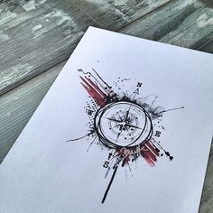 Ideas tattoo compass ideas trash polka for 2019 Map Tattoos, Body Art Tattoos, Sleeve Tattoos, Travel Tattoos, Ankle Tattoos, Trendy Tattoos, Tattoos For Guys, Cool Tattoos, White Tattoos