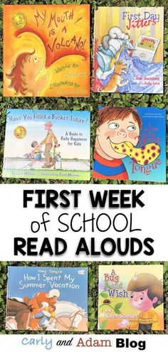 First Week of School Read Alouds — Carly and Adam