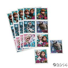 Disney's Frozen Sticker Sheets, Stickers, Party Favors, Party Supplies - Oriental Trading