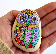 For AlexandraReserved Hand Painted Stone by ISassiDellAdriatico