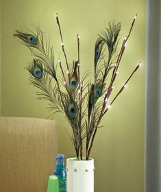 The natural-looking accents of this LED Lighted Branch Set give the gently glowing light a fresh look. The long branches make a striking impression displayed in a vase in any indoor area. Grass and Swirls choices have 3 branches and 36 LED lights; an