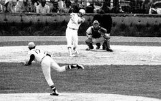Reggie Jackson cranks a Home Run in the 1971 All Star Game.  Staggering.  Never seen a ball hit like that since, except when a juiced - up Barry Bonds launched a World Series Home Run in '03 against the Angels.