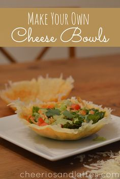 Homemade cheese bowls to serve salads in!