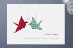 Learn about Origami Paper Folding Origami Wedding Invitations, Wedding Stationary, Wedding Cards, Our Wedding, Paris Wedding, Wedding Ideas, Paper Crane Wedding, Dollar Bill Origami, Love Birds Wedding