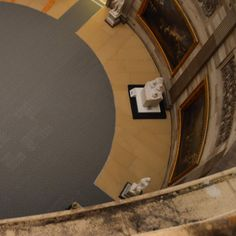 Floor protection installed for the U.S. Capitol rotunda interior restoration. Project details at aoc.gov/rotunda.