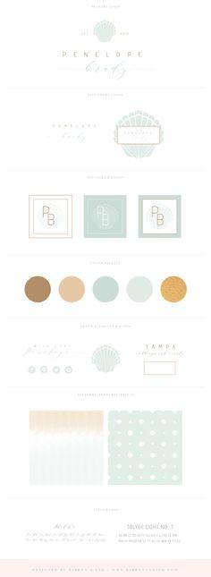Premade branding / semi custom logo / premade logo / branding for photographers / logo design / semi custom logo / brand kit / brand board / brand ideas / color palette / nautical / blue / gold