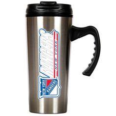 NHL New York Rangers Slim Stainless Steel Travel Mug