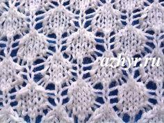 № 105 Ажурный узор для шарфа спицами