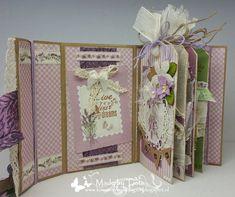 Created by Tiets: Scrap en Bep 11 mei 2016 Mini Albums Scrap, Mini Scrapbook Albums, Mini Photo Books, Baby Mini Album, Stampin Up Anleitung, Book Journal, Journals, Craft Tutorials, Card Making