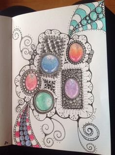 Janet Gagnon‎Tangled Gems- Zentangle® Inspired Jewels and Stones