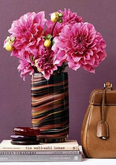 Hibiscus as Garden Plants--the blooms are gorgeous, but I cannot stop admiring that vase...covet, covet...