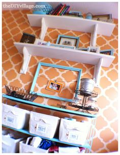 """""""I need shelving like this!!! organized craft room but beautiful ideas for any organized area.."""" #furniture #painting #craftroom #inspiration"""