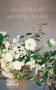 The Ultimate Wedding Planning Checklist via oncewed.com