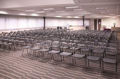 seminar room buffet setting area