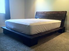 Wooden Bed Frame, Made to order, Any Size, Customization