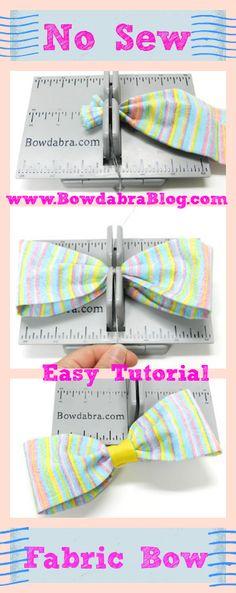 No Sew Fabric Pet Bow Tie - Bowdabra Blog #Nosewbow, #easycrafts