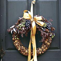 Go Nuts with your Autumn Door Wreath