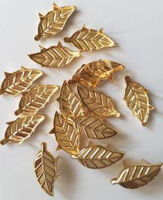 Niete Zierniete  Blatt  gold 100 Stück