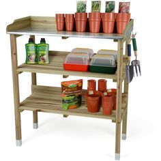 Shop for Christow Wooden Potting Table Flower Plant Work Bench Garden Greenhouse Staging. Starting from Choose from the 2 best options & compare live & historic home prices. Potting Bench With Sink, Potting Tables, Garden Furniture, Cool Furniture, Greenhouse Staging, Galvanized Sheet Metal, Slatted Shelves, Shelf Hooks, Wooden Garden Benches
