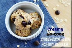 Creamy, No-Cook Chocolate Chip Balls