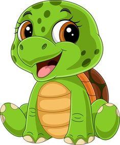 Cute Turtle Cartoon, Baby Cartoon, Funny Babies, Cute Babies, Little Mermaid Play, Cute Baby Turtles, Happy Turtle, Reptiles And Amphibians, Funny Cartoons