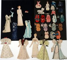 Four Handmade Paper Dolls : Lot 85