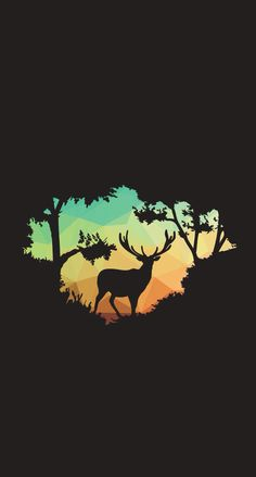 Nature deer iPhone wallpaper background lockscreen – My Wallpapers Page Deer Wallpaper, Nature Iphone Wallpaper, Galaxy Wallpaper, Black Wallpaper, Screen Wallpaper, Mobile Wallpaper, Wallpaper Backgrounds, Wallpaper Samsung, Digital Illustration